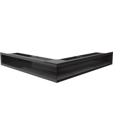 Kratka kominkowa LUFT narożny czarny 56x56x9