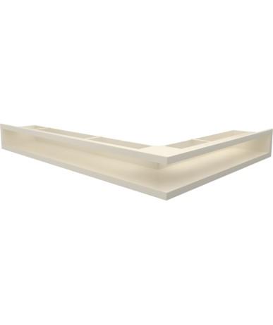 Kratka kominkowa LUFT narożny lewy biały 60x40x6