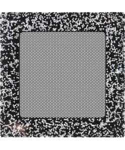 Kratka Venus Swarovski czarno-srebrna