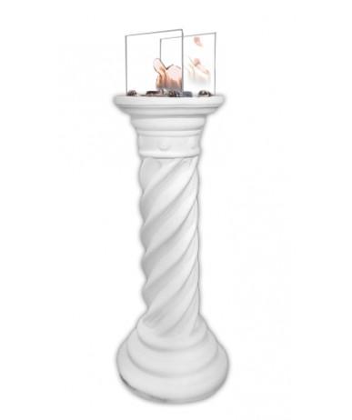 Biokominek antyczny bio-waza Akropol Stilos z szybami