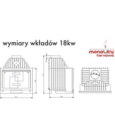 Wkład kominkowy Monolity Tarnavva UNICA Round 18kW