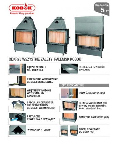 Wkład kominkowy KOBOK Vision VD 610/510 SM BS/500