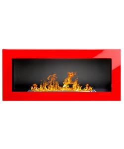 Biokominek zawieszany Globmetal 90x40 czerwony połysk TÜV