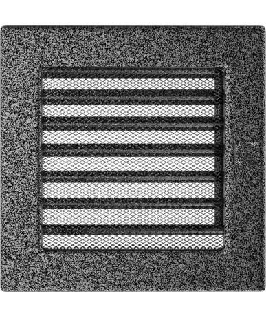 Kratka Czarno-srebrna 17x17 cm z żaluzją