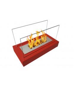 Biokominek wolnostojący Globmetal Home czerwony