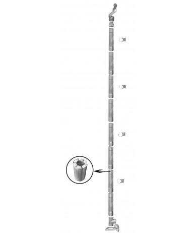 Kompletny komin żaroodporny wielowarstwowy fi 180/320 8m