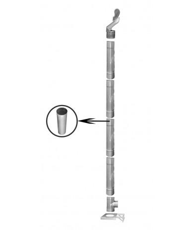 Kompletny komin żaroodporny jednościenny fi 200 4m
