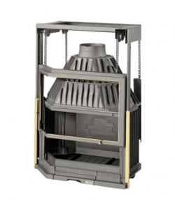 Wkład kominkowy LAUDEL 850 PRYZMAT szyba półpryzmatyczna drzwi podnoszone